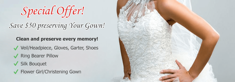 Wedding Gown Preservation special offer